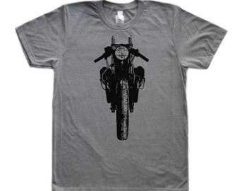 Front Motorcycle Cafe Racer Graphic T-Shirt