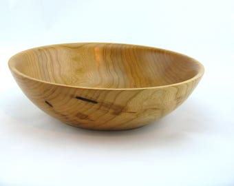 Cherry salad bowl. Finish  with oil  10 1/4 in in diameter by 2 7/8 in. in height Item 433