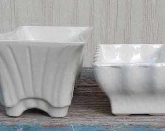 Pair of Vintage Ceramic Planters!