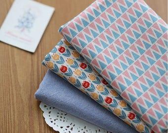 Little Tulip - Quarter Fabric Pack 3 Fabric 1set - Sets for 3 each 45 X 55 cm