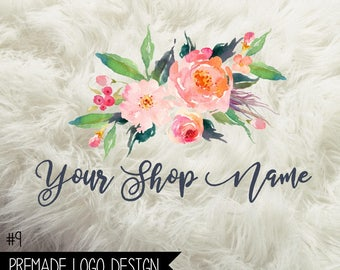 9. Premade Business  Logo Digital File 300dpi PNG file, personalized with your shop name