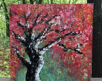 CHERRY TREE - original painting