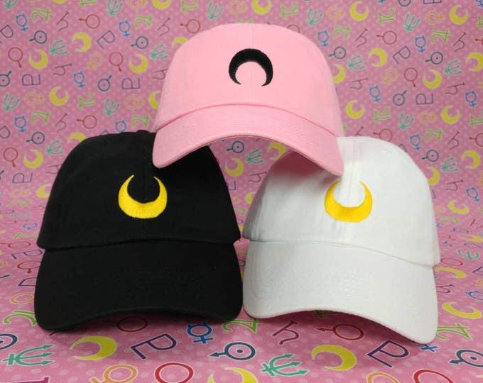 Featured listing image: Sailor Moon Luna / Artemis / Black Lady Cap