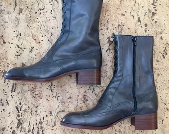New grey boots vintage made in France