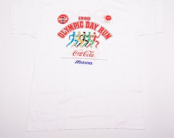 Vintage 90s Olympic Day Run Coca Cola Coke Tshirt