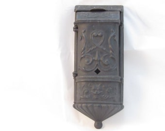 vintage mail box cast iron