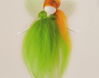 Wool Felt Fairy - Green - Needle Felted - Irish Fairy