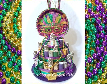 "MONEY CAKE - ""Mardi Gras"" - Unique Gifts Made with Real Money. A Fun New Way to Celebrate Special Occasions."