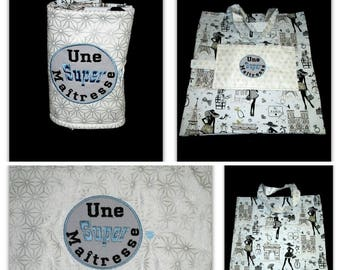 (customizable) teacher gift tote bag
