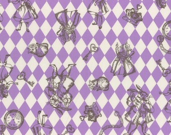 A Girl's Story, Alice in Wonderland 40724L-110 Cotton Shirting By Lecien Fabrics