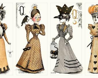 Queen of We'en Doll Panel cotton woven by Janet Wecker Frisch