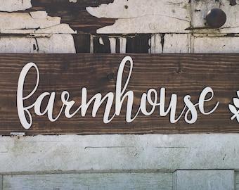 Dimensional farmhouse sign, farmhouse sign, farmhouse wall decor, farmhouse wall sign, farmhouse living, dimensional wall art, wall art