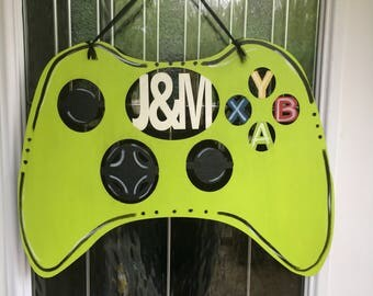 Xbox door hanger, gamer door hanger, gamer decor, gaming door hanger, gaming door decor, gaming, gamer, games