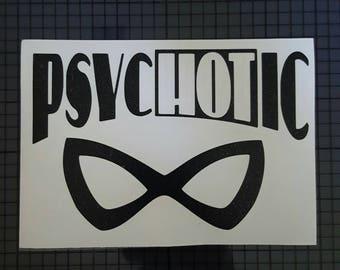 DC Comics Decal - Harley Quinn Mask - Psychotic Design  - 16 colors & Multiple Sizes