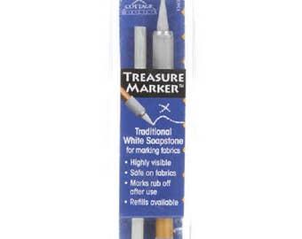 Treasure Marker White Soapstone Fabric Marker   #TM600