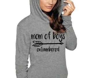 BOY MOM SHIRT ,Mom Of Boys Tshirts, Long sleeve Boy Mom, Gift For Mom, Mothers Day Gift, Mom Life Shirt, Light Weight Hoodie Sweatshirt