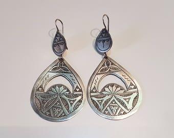 Big Tuareg Earrings, Tuareg Jewelry, Tribal Earrings, Ethnic earrings, Tuareg Earrings, West Africa jewelry