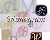 Monogram Your Ring Box With One Letter Pick from Various Colors and Fonts