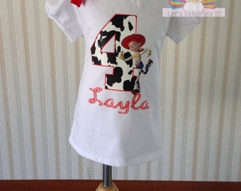 Jessie toy story shirt,toy story shirt,girls toy story birthday shirt