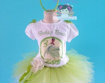 Princess Tiana Tutu, Princess and the Frog, Disney Princess, Princess birthday tutu, Princess Tiana outfit.