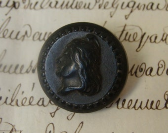 Small Goodyear 1851 French Liberty Head Button - bouton ancien