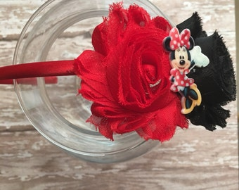 FREE SHIPPING Minnie mouse headband- Disney World headband - Minnie Mouse Party - Minnie Mouse Bow