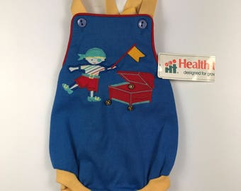 Vintage Baby Boys Pirate Romper Size 9 months