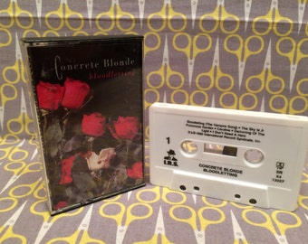 Bloodletting by Concrete Blonde Cassette Tape rock
