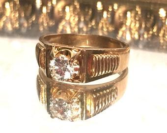 Vintage 14K HGE Gold Lind Ring Size 13