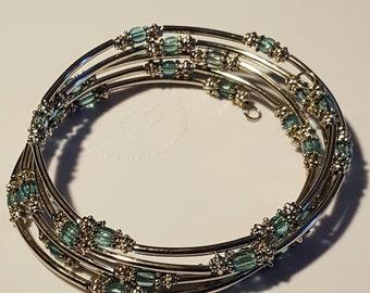 Memory Wire Coil Bracelet