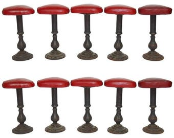 Set of Ten Victorian Cast Parlor Barstools