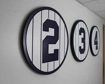 New York Yankees Retired Number Plaques