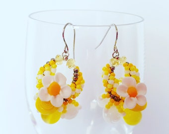 Yellow Lemon Earring