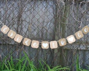 WEDDING - Bride To Be Banner - Wedding Sign - WEdding Decorations - Wedding Banner