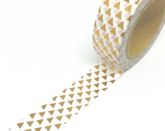 Copper Traingle Foil Washi Tape 15mm x 10m