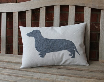 Dachshund, Weiner Dog, Pillow Cover, Ready to Ship