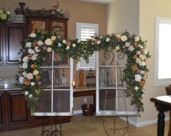 Wedding Arch Archway Swag, Wedding Ceremony Swag, Church Arch, Church Ceremony Swag, Peony Swag, Arbor Swag, Church Arbor Swag, Wedding Swag
