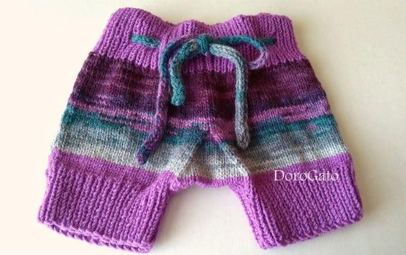 Knit Shorts Pattern : Knit Baby Pants Pattern Knit Pants Baby Shorts by PatternsDG