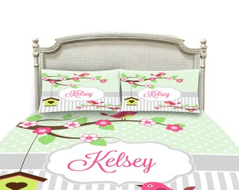 Little Birds Country Chic -Personalized Bedding- Duvet  Cover , Comforter Option, Twin, Full Queen, King
