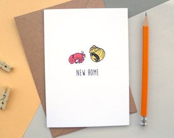 New Home Card | Hermit Crab Finds a New Shell | Greetings Card