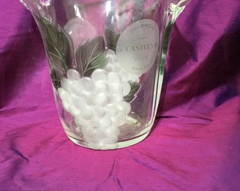 Large Vintage Glass French Champagne Cooler