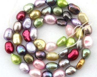 20%OFF 5-6mm Natural Baroque pearl beads  Freshwater Pearl beads  colours  Color 49pcs--15inch--Full Strand Item No-FS70