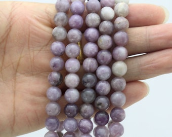 25%OFF Lilac Stone, Round Stone Beads , Lilac gemstone Beads One Full Strand,Lilac Beads-15-16 inches--NC98