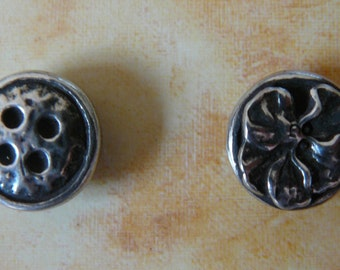 Button Rose Pewter Magnet Tidy