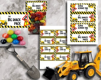 Construction Treat Bag Toppers Instant Download Printable Treat Bag Toppers