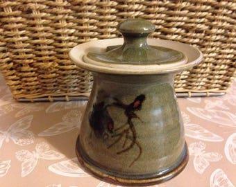 studio pottery preserve/jam pot with lid. glenshee pottery  handmade good  Condition /