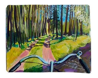 "Fine Art Print of Finnish Landscape Painting from Artist Travel Journal – ""Bike Ride on Korpo Island"""