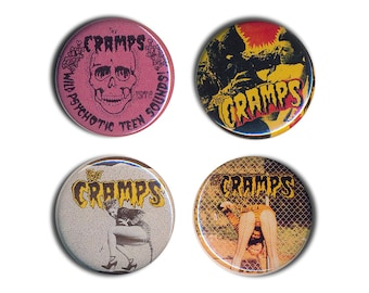 The Cramps Pin Badges  25mm 1inch Badge Buttons Button