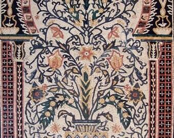 Flower Vase Mosaic Ancient Style