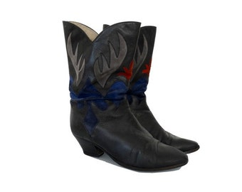 1980s DISCO booties // 80s disco ankle boots // size eu 37-uk4-us 6